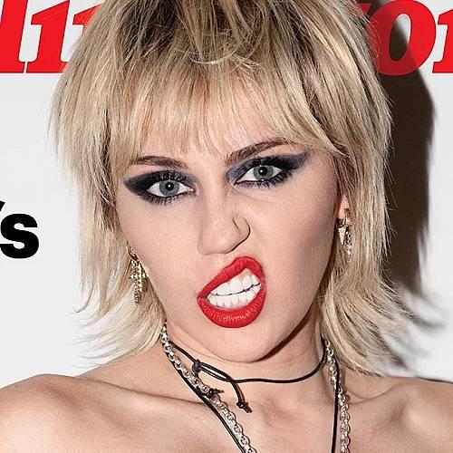 Майли Сайръс позира без горнище за Rolling Stone