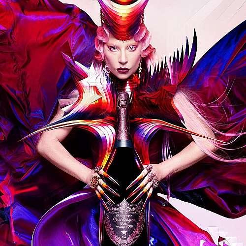 """Лейди Гага си сътрудничи с бранда на френското шампанско """"Дом Периньон"""""""