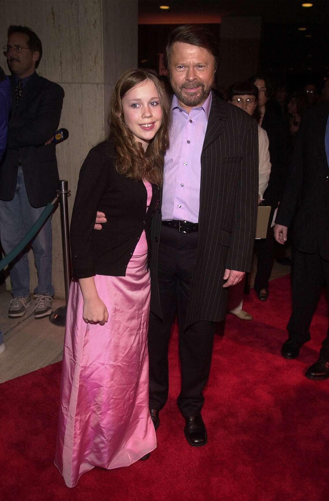 Бьорн Улвеус (Björn Ulvaeus) с дъщеря си Анна