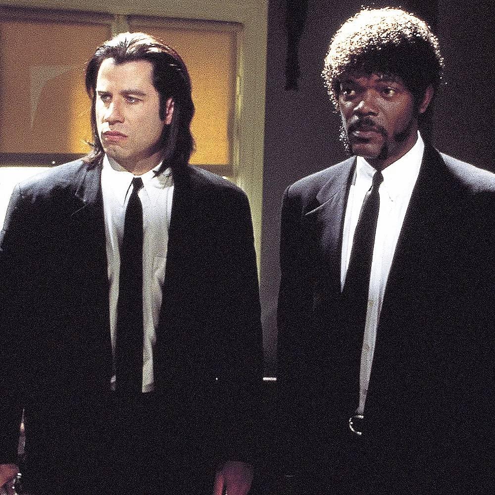 """Джон Траволта и Самюел Л. Джаксън в  кадър от филма """"Криминале"""""""