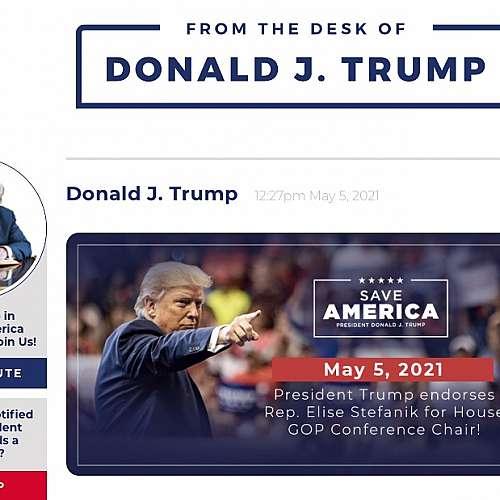 Доналд Тръмп се завръща в социалните медии със свой блог