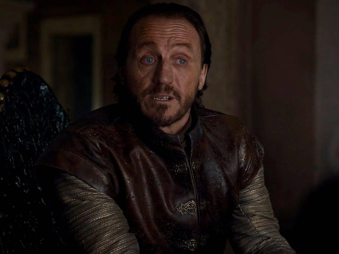 """Кадър от """"Игра на тронове"""". Лорд Брон от Highgarden, настоящият Master of Coin"""
