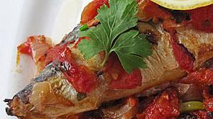 Гювеч с риба и домати