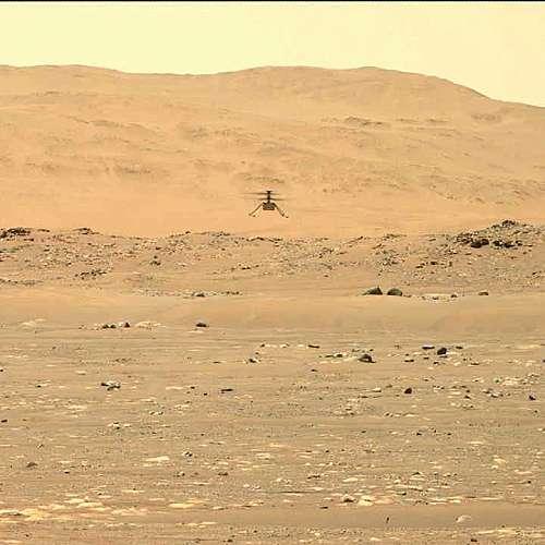 """Хеликоптерът """"Инджинюъти"""" извърши втори успешен полет на Марс"""