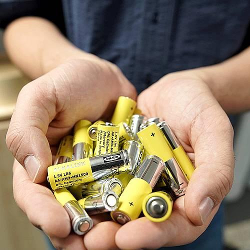 ИКЕА няма да продава алкални батерии за еднократна употреба