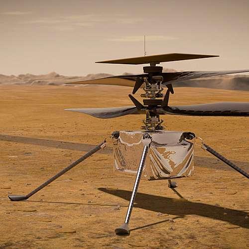 Хеликоптерът оцеля на Марс в първата си нощ