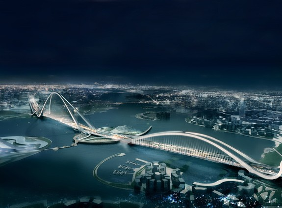 cheikh rashid bin saeed crossing bridge