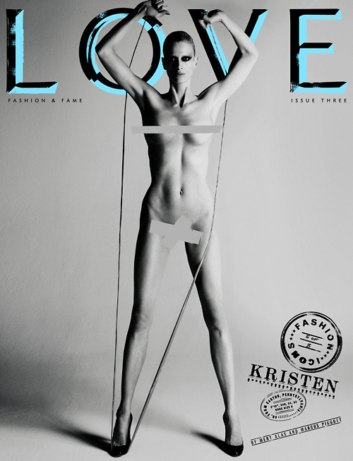 Kristen McMenamy Love magazine