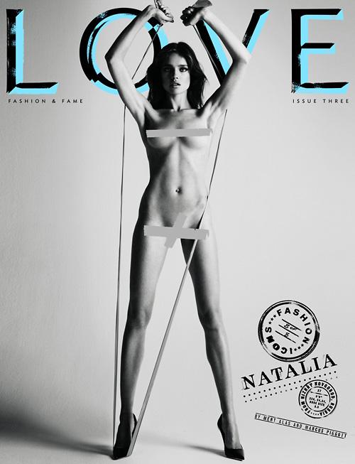 Natalia Vodianova Love magazine cover
