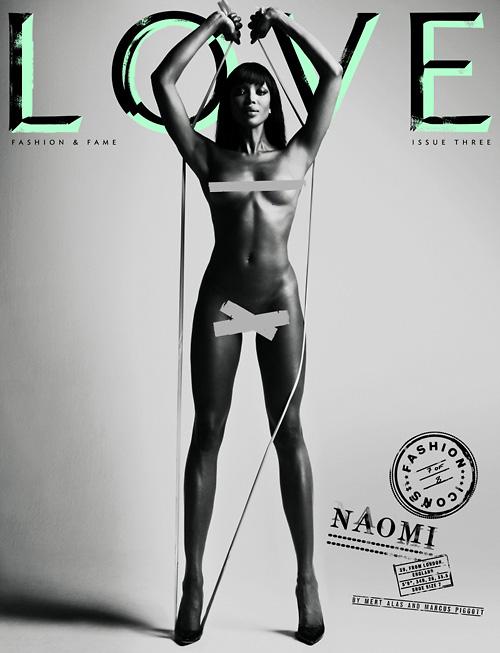 Naomi Campbell Love magazine