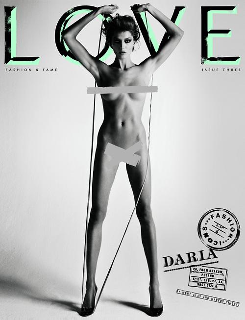 Daria Werbowy Love magazine cover