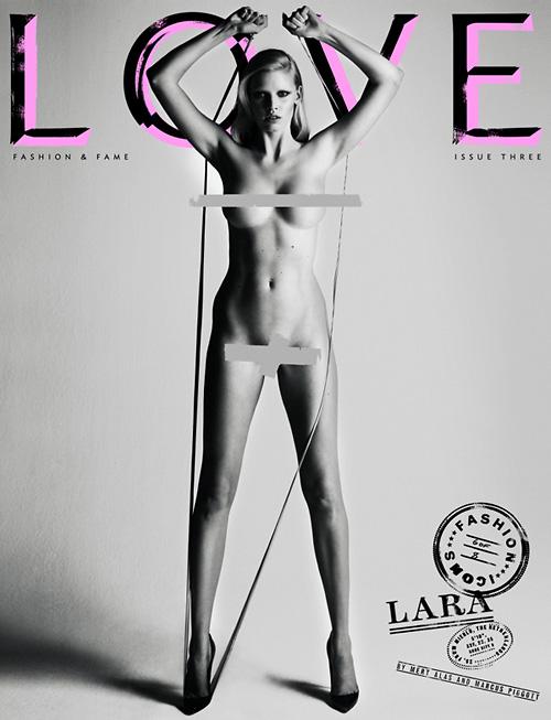 Love magazine cover Lara Stone
