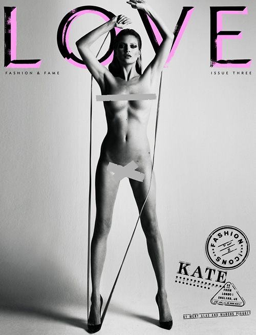 Kate Moss Love magazine cover