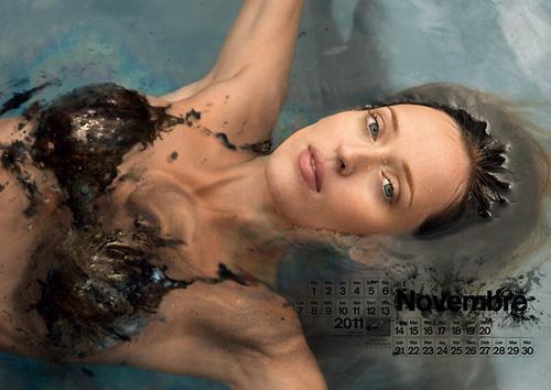 свежо секси календар Нефтените бански 2011