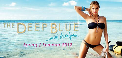 свежо Кейт Ъптън с бански на Beach Bunny 2012