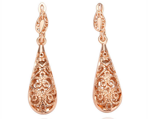 rose gold earrings vintage