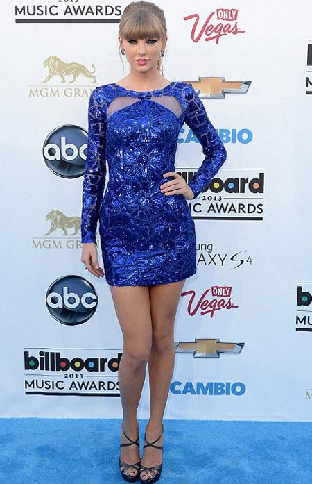 Taylor Swift blue dress 2014 633
