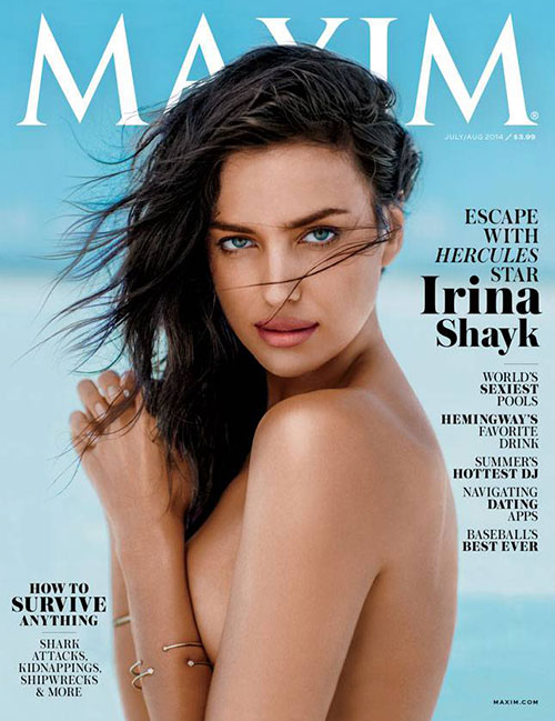 Irina Shayk Maxim july aug 2014 06