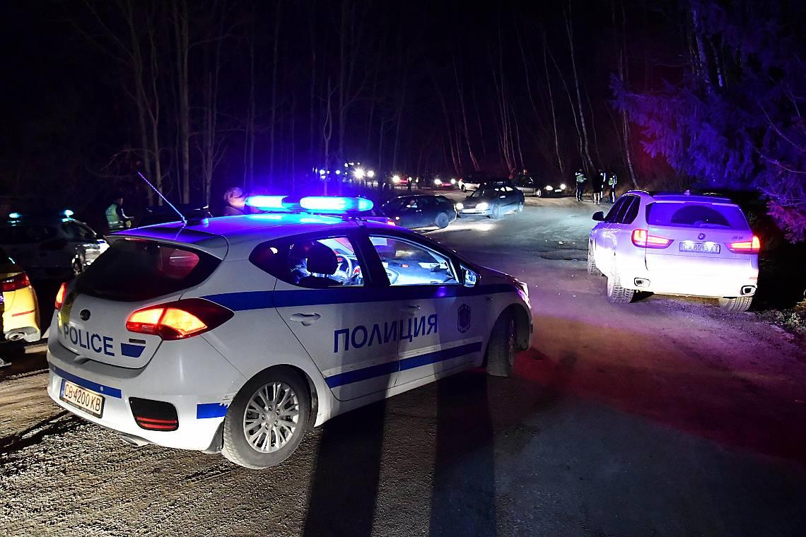 Полицейска блокада и масови проверки за алкохол и документи очакваха всички слизащи от Витоша в новогодишната нощ.
