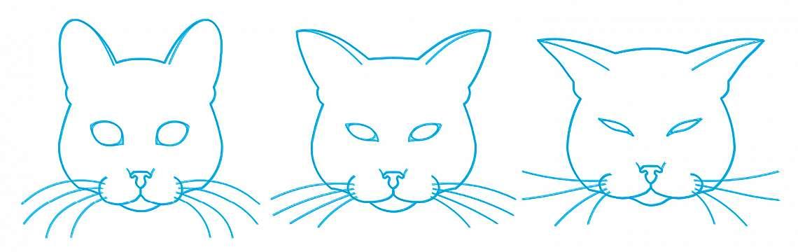 Наблюдавайте позиция на главата, мустаците, ушите, напрежение на муцуната, степен на напрежение на очната орбита.