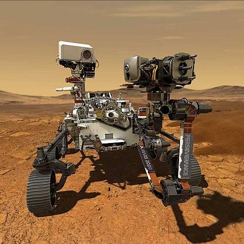 """Роувърът """"Пърсивиърънс"""" записа звуците от движението си по Марс"""