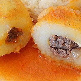 Пълнени картофи с месо