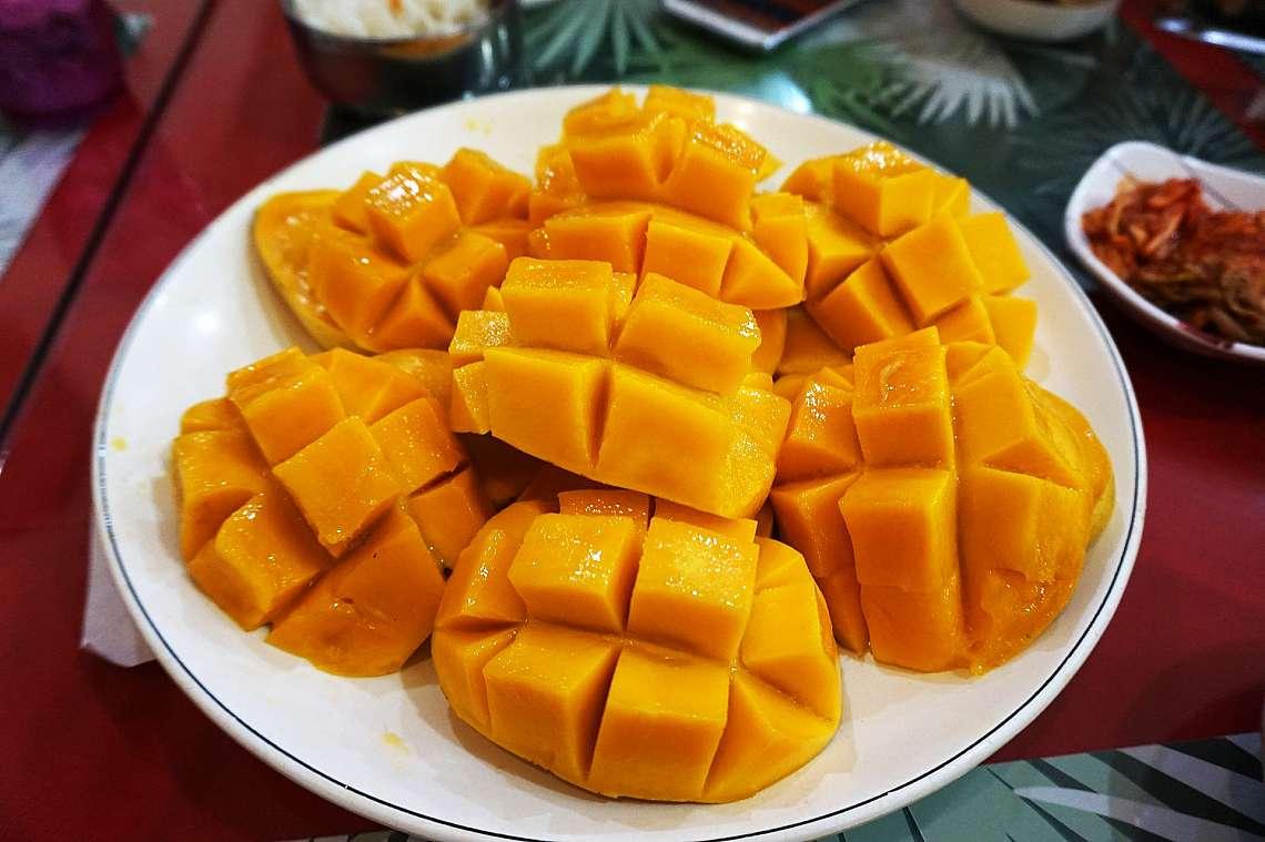 Печено манго