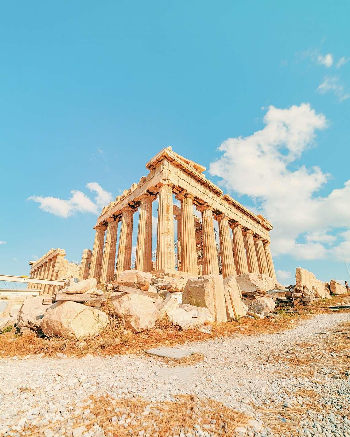 Parthenon and the Acropolis of Athens Greece