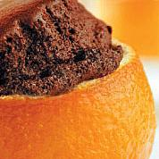 Шоколадов кейк в портокал