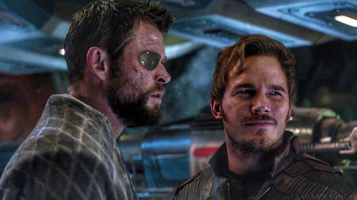 """Крис Хемсуърт и Крис Прат в  """"Отмъстителите: Война без край""""."""